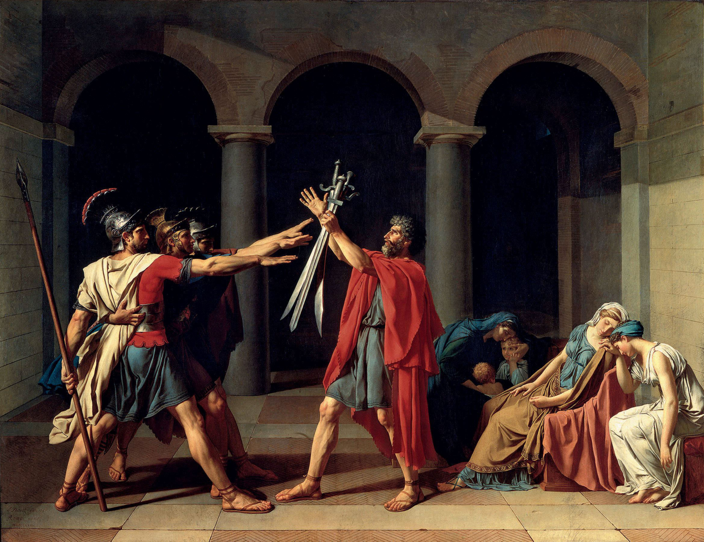 Le Serment des Horaces, Jacques-Louis David
