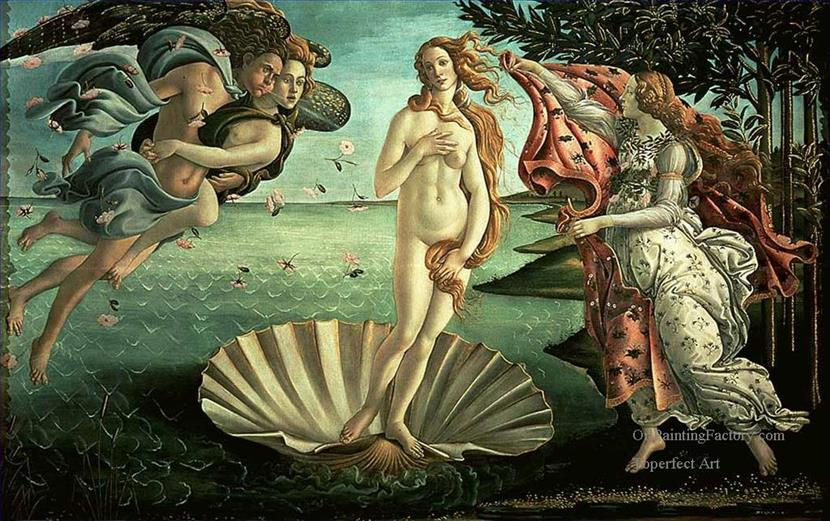 It depicts the goddess Venus arriving at the shore after her birth, when she had emerged from the sea fully-grown.