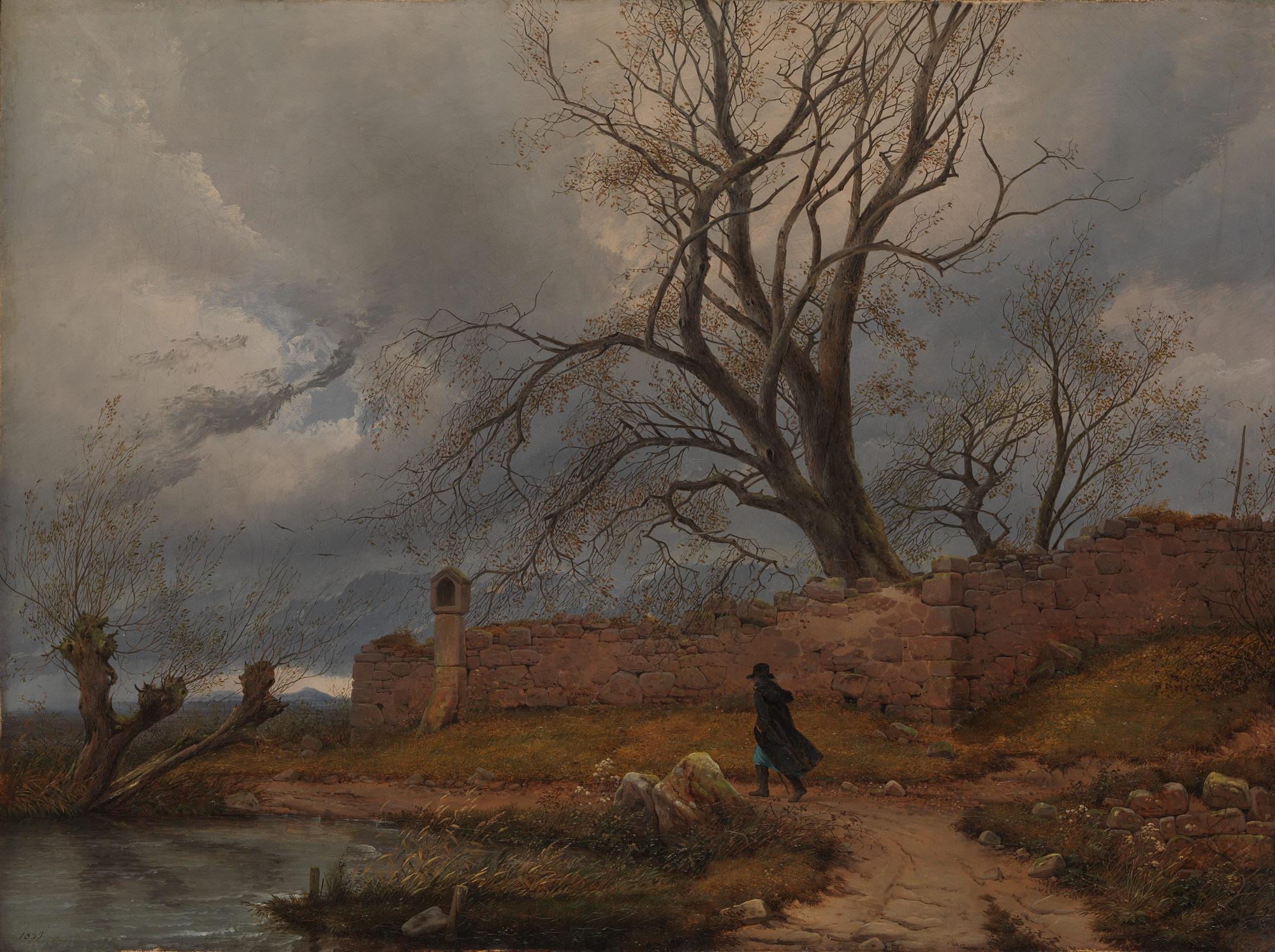 Wanderer in Storm, Julius von Leypold