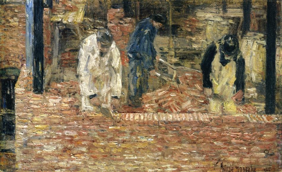 The Bricklayers, Frederick Childe Hassam