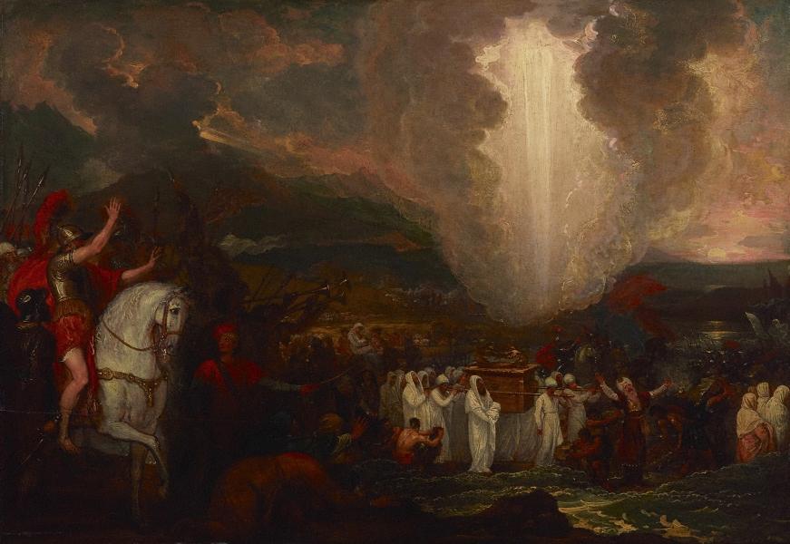 Joshua Passing River Jordan with Ark, Benjamin West