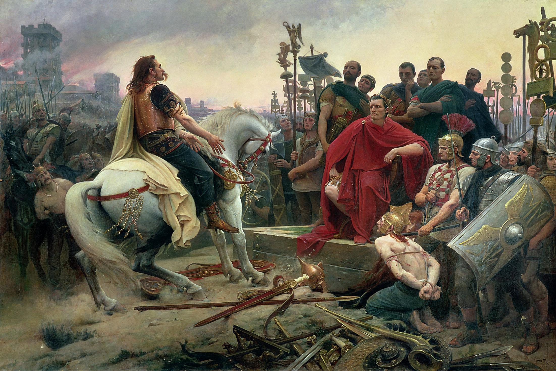 Vercingetorix Surrenders at Alesia, Lionel Royer
