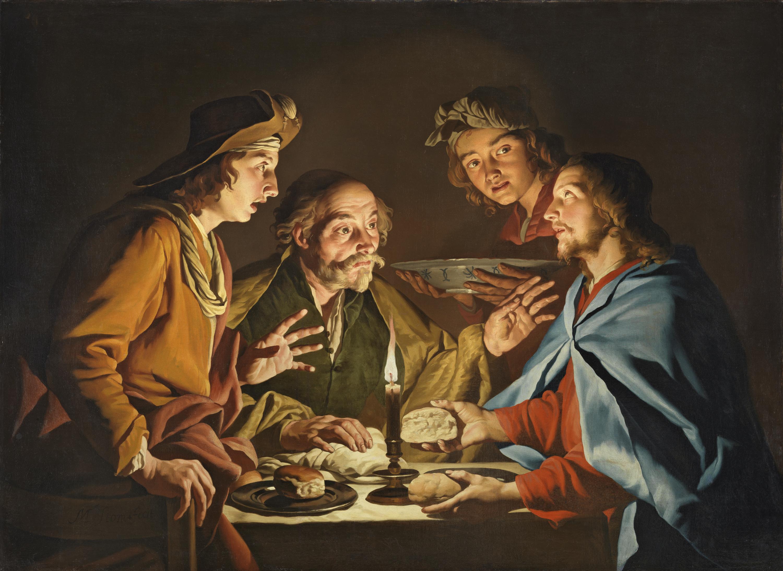 The Supper at Emmaus, Matthias Stom