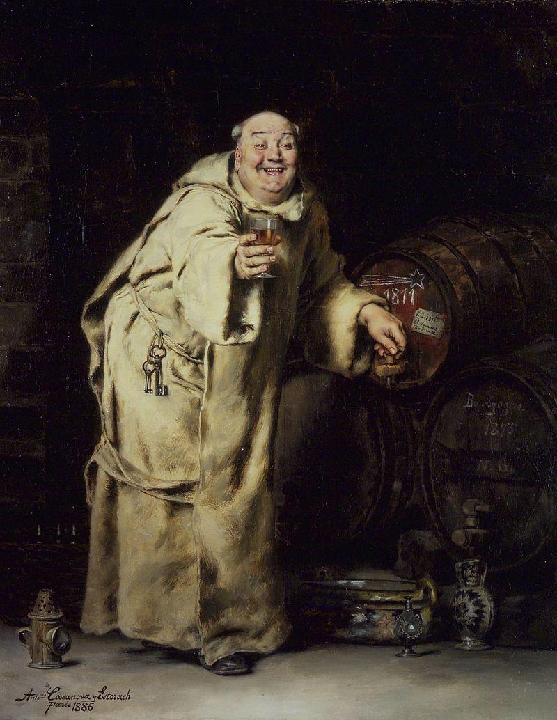 Monk Testing Wine, Antonio Casanova y Estorach