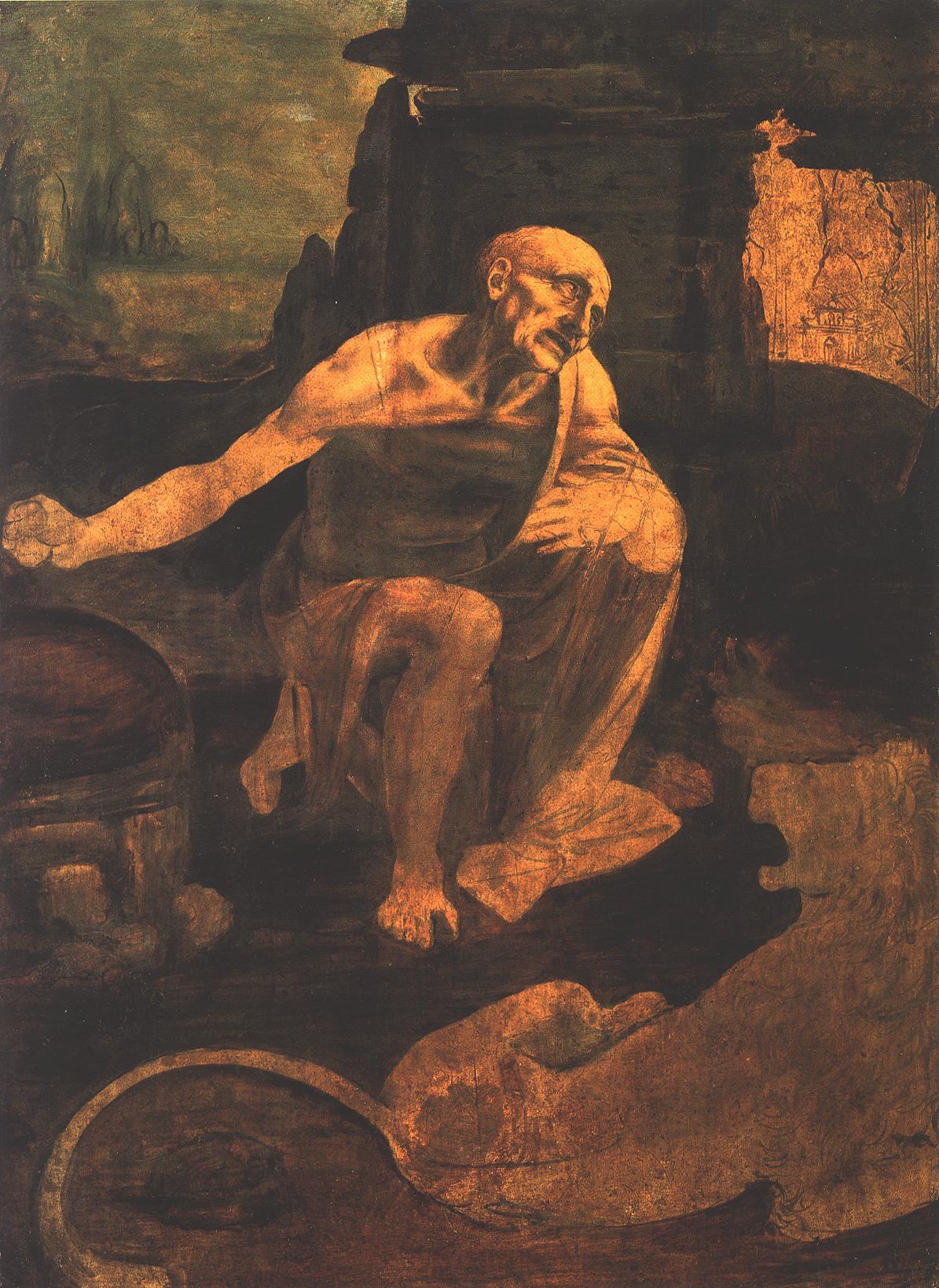 St Jerome in the Wilderness, Da Vinci