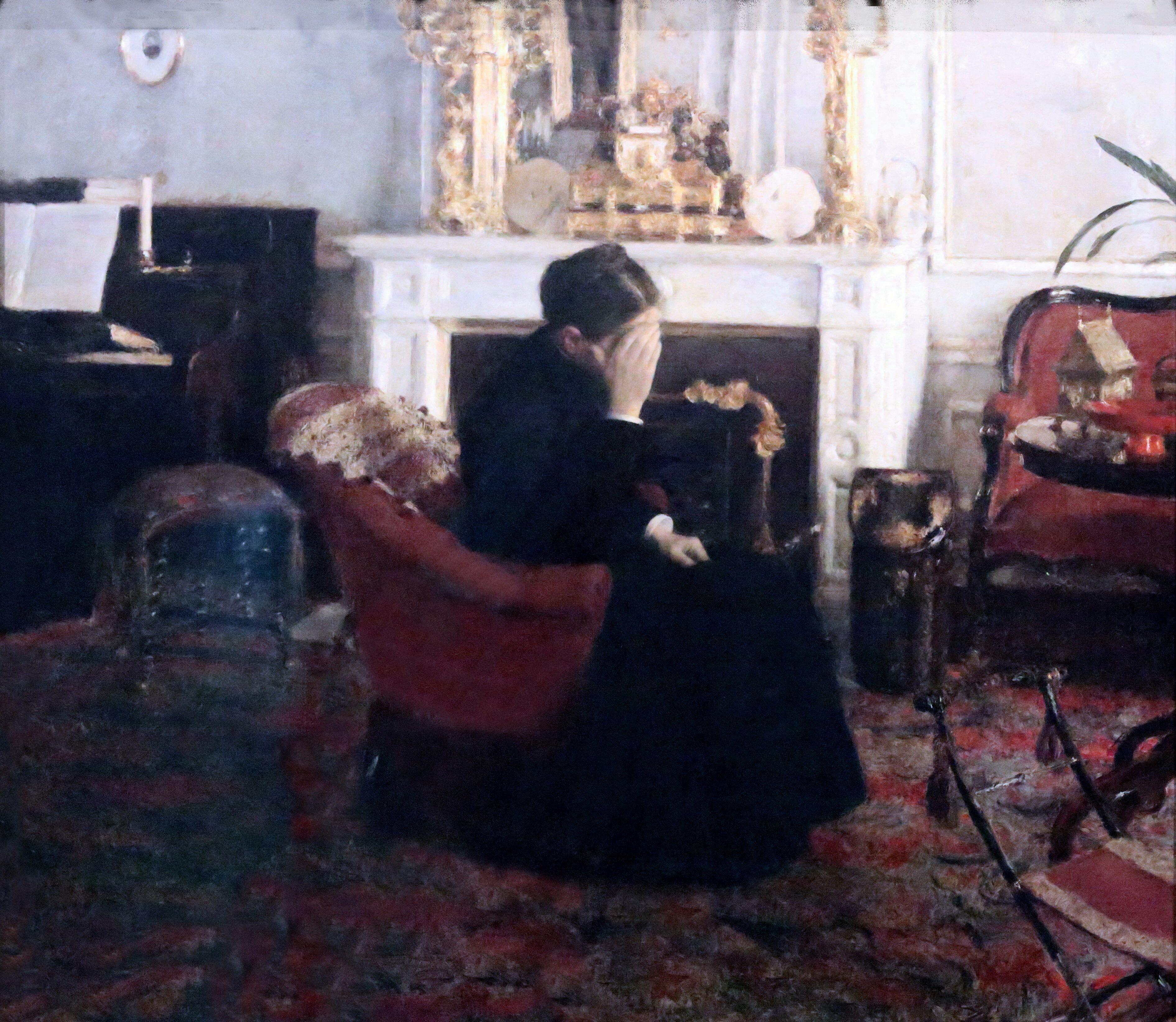 Listening to Schumann, Fernand Khnopff