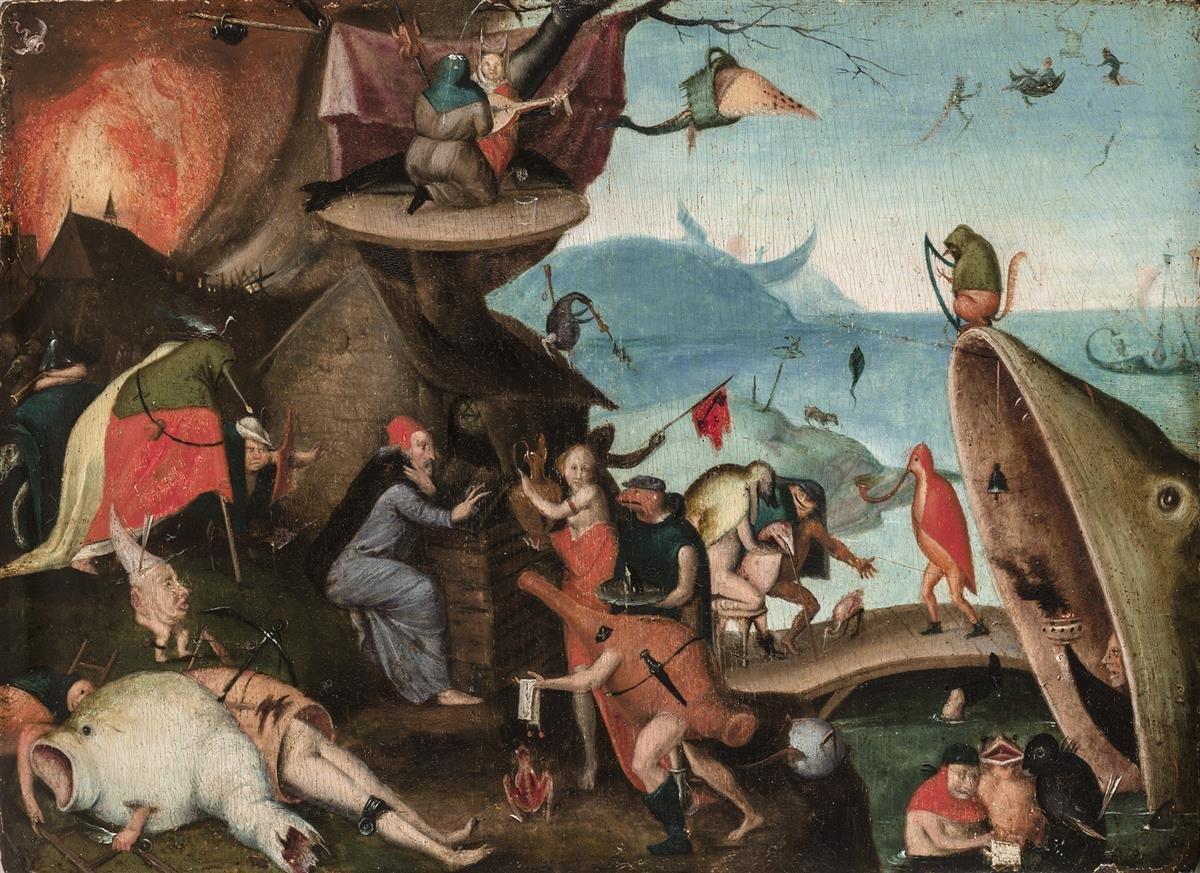 Temptation of St. Anthony, Follower of Hieronymus Bosch
