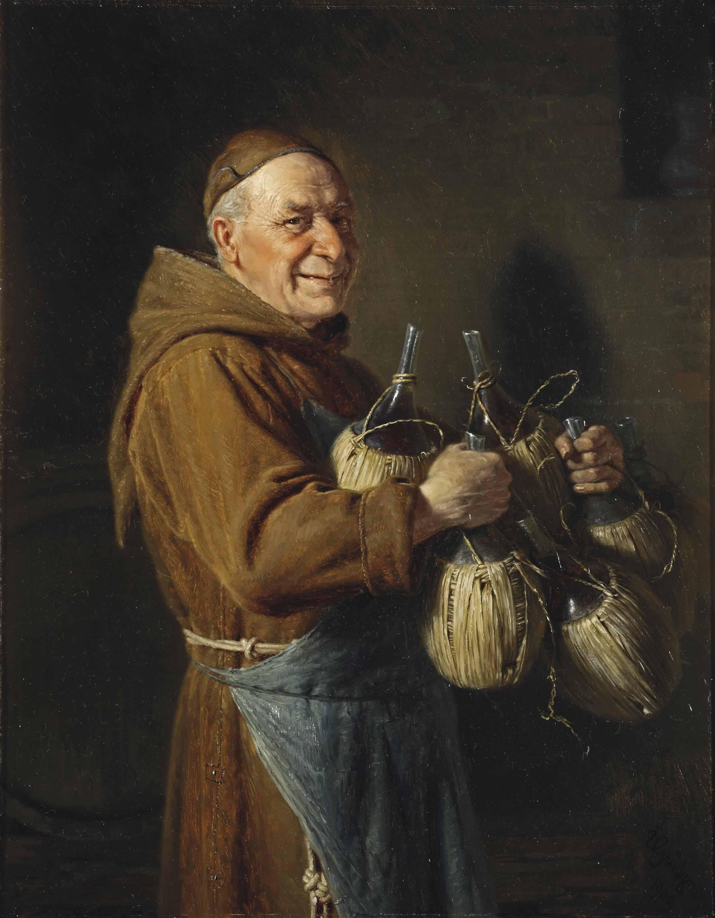 The Happy Monk, Eduard Grützner