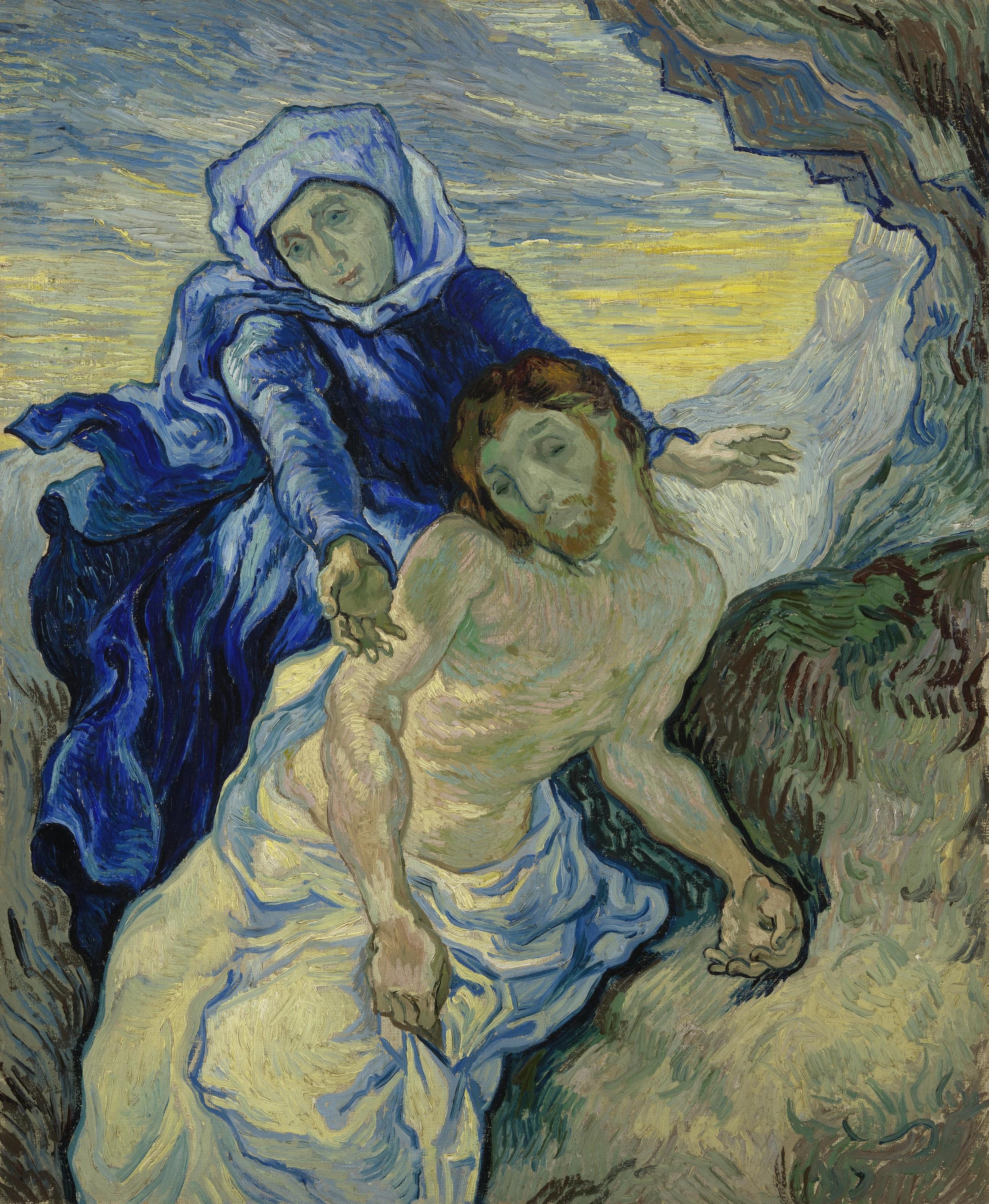 Pieta (after Delacroix), Van Gogh