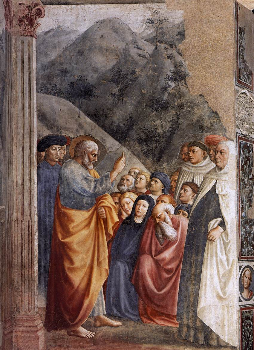 The Preaching of St Peter, Masolino