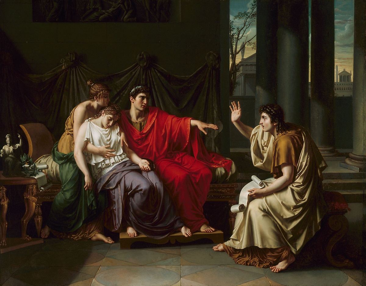 Virgil Reading the Aeneid to Augustus, Jean-Baptiste Wicar