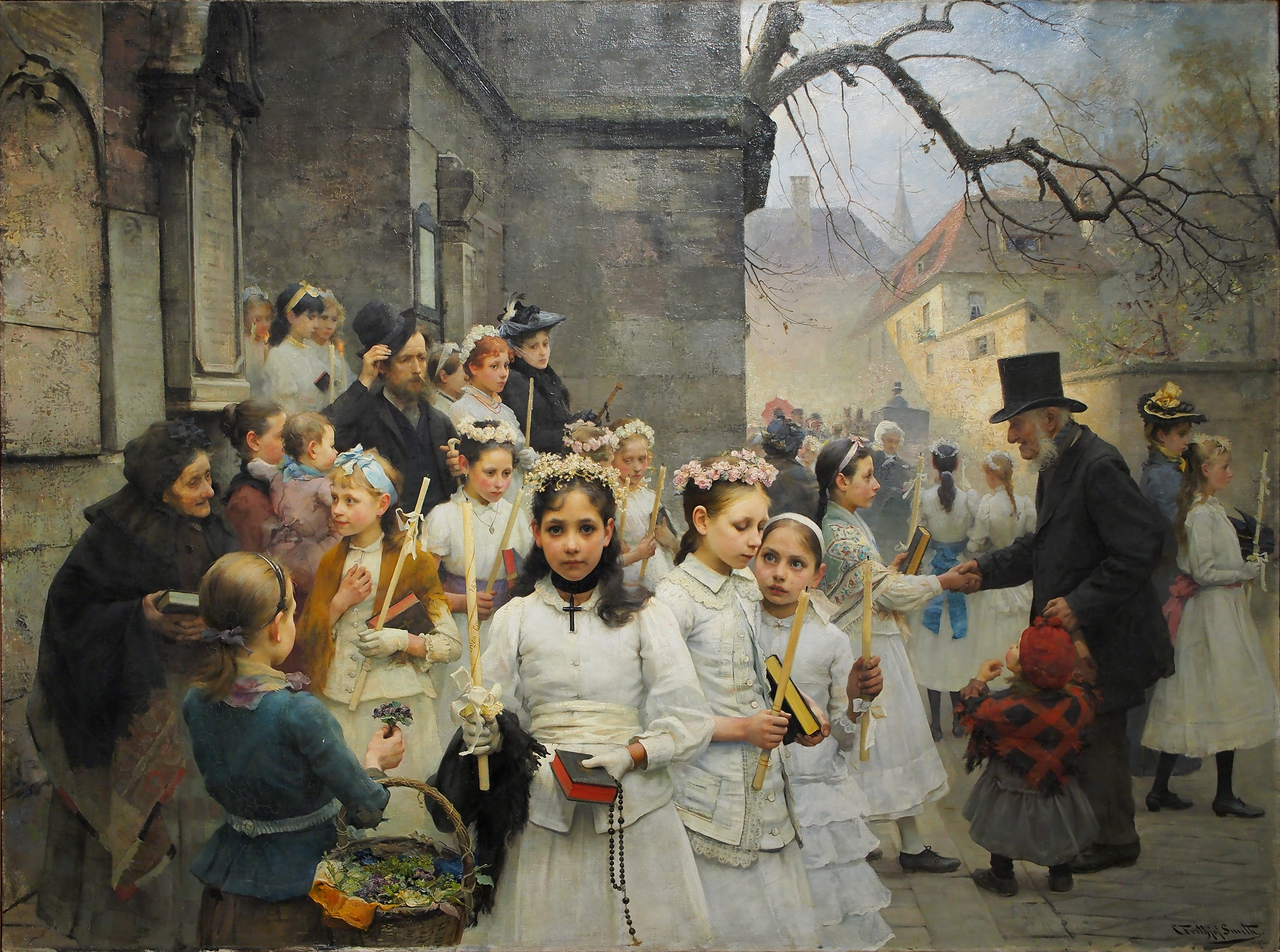 After first Communion, Carl Frithjof Smith