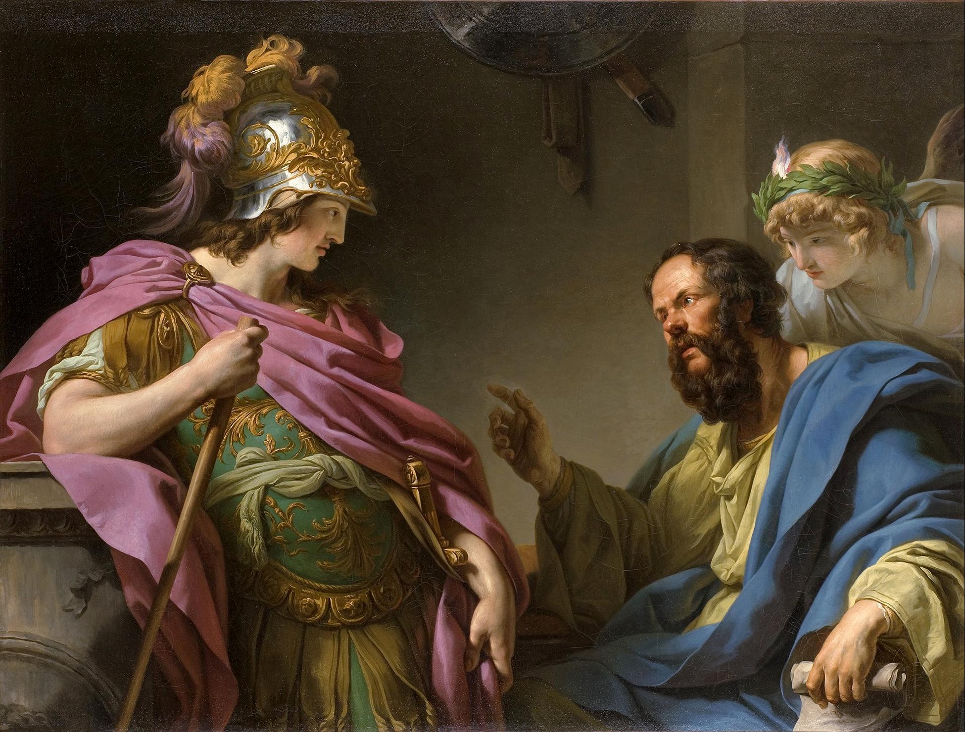 Alkibiades diajarkan oleh Socrates, François-André Vincent