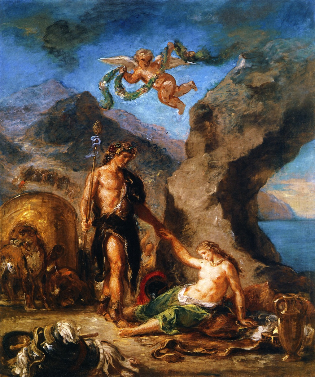 Autumn, Bacchus and Ariadne, Eugene Delacroix