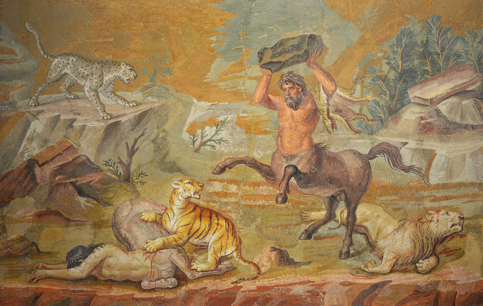 Centaur, Roman Mosaic (Illustration)