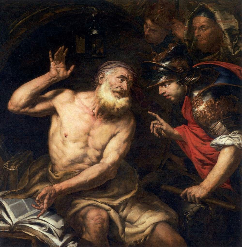 Diogenes and Alexander, Giovanni Battista Langetti