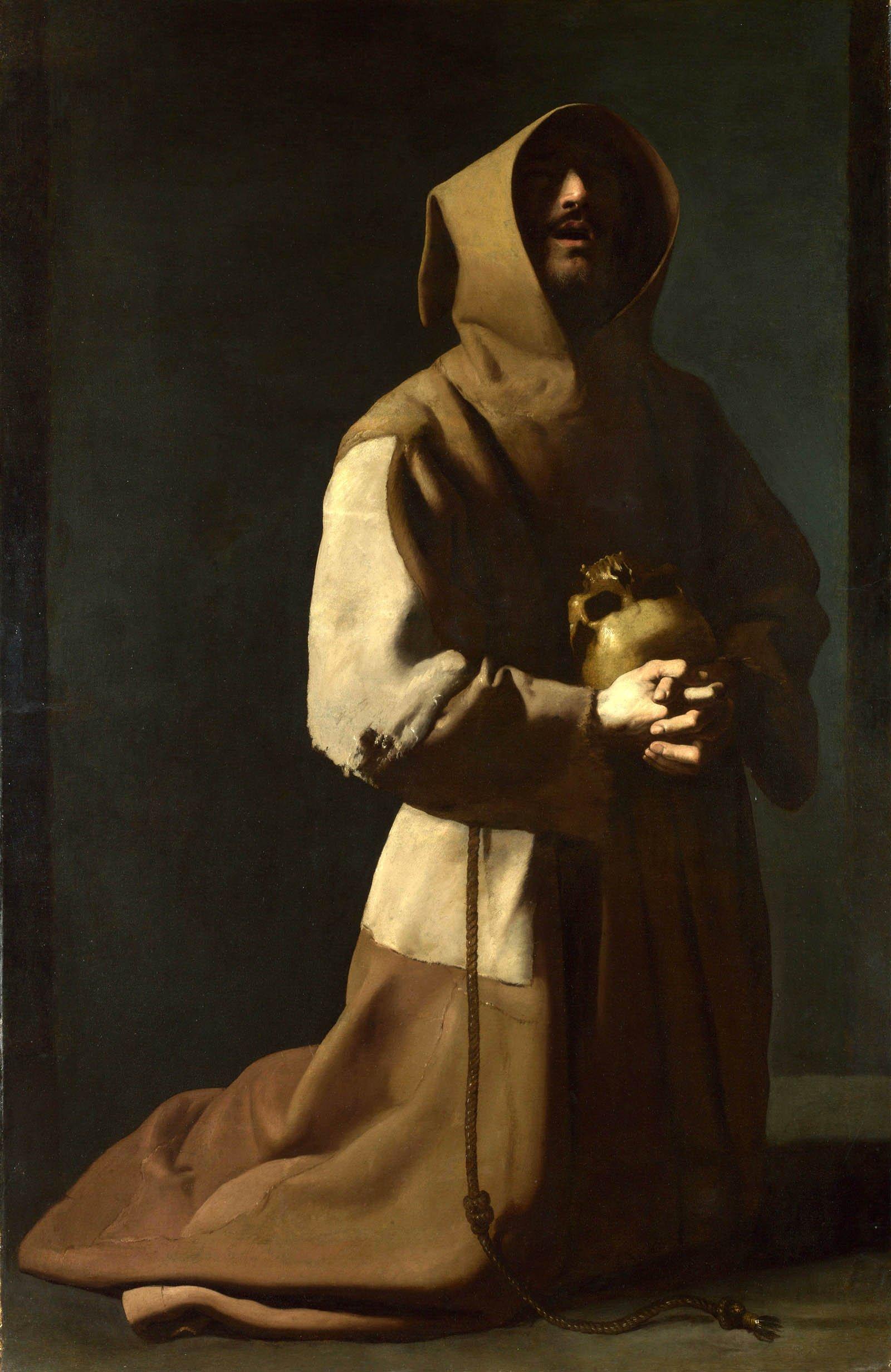 Saint Francis in Meditation, Francisco de Zurbaran