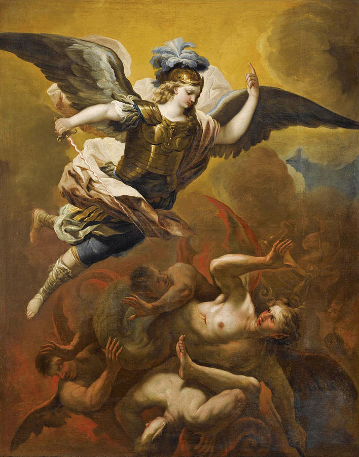 Saint Michael Defeating Satan, Luca Giordano