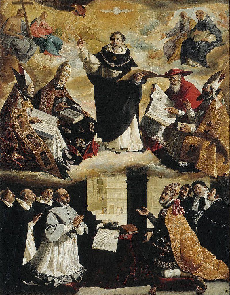 The Apotheosis of St. Thomas Aquinas, Francisco de Zurbaran