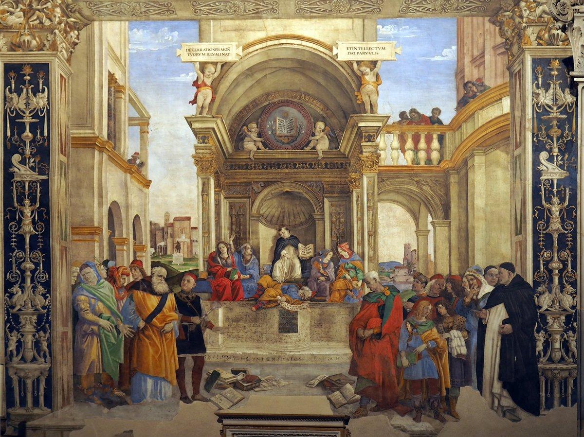 The Triumph of Saint Thomas Aquinas over the Heretics, Filippino Lippi