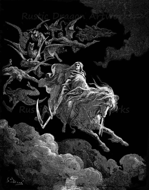 Death on a Pale Horse, Gustave Dore