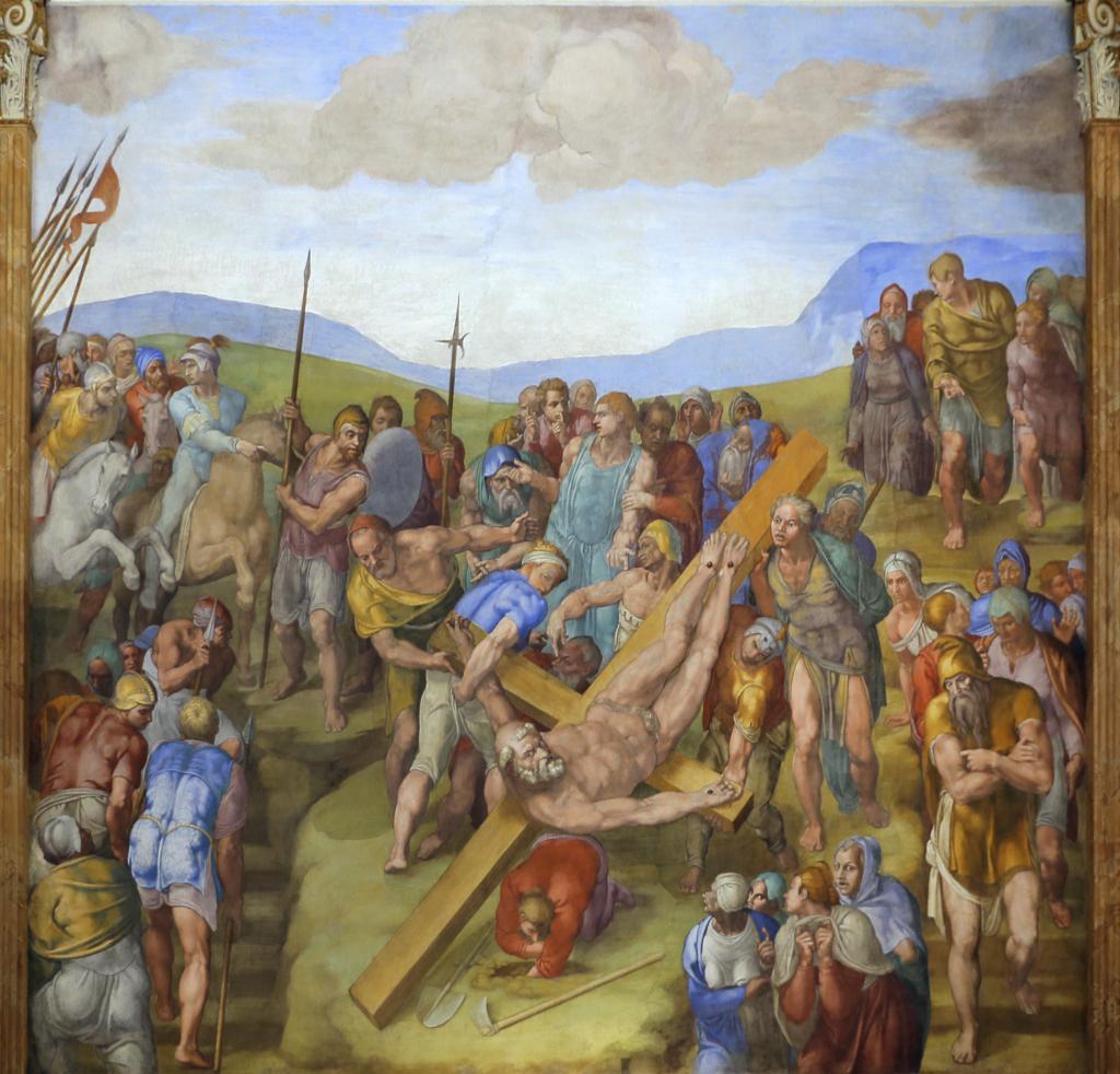 Martyrdom of St Peter, Buonarroti