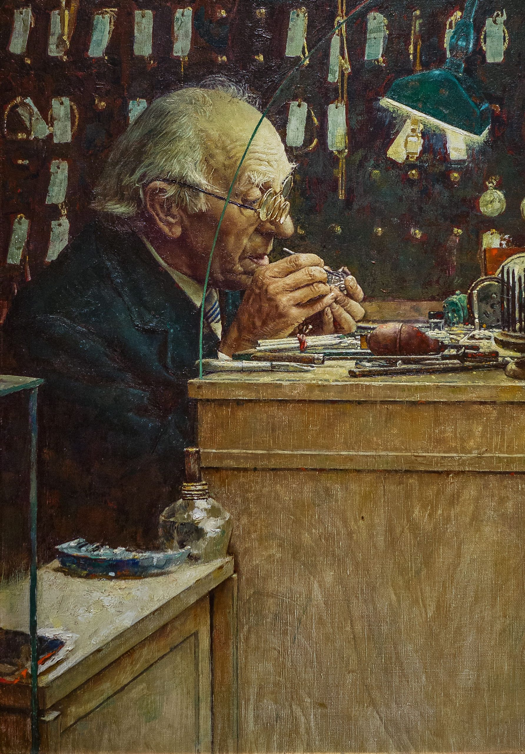 Watchmaker, Norman Rockwell