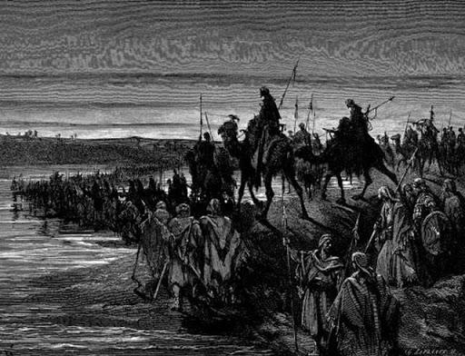 Joshua and the Israelites Crossing the Jordan, Gustave Doré