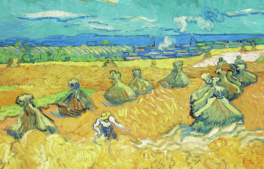Wheat Fields With Reaper, Van Gogh