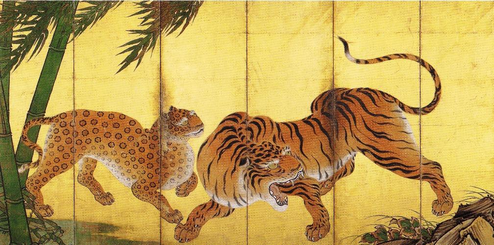 Ryūko-zu Byōbu, Kanō Sanraku