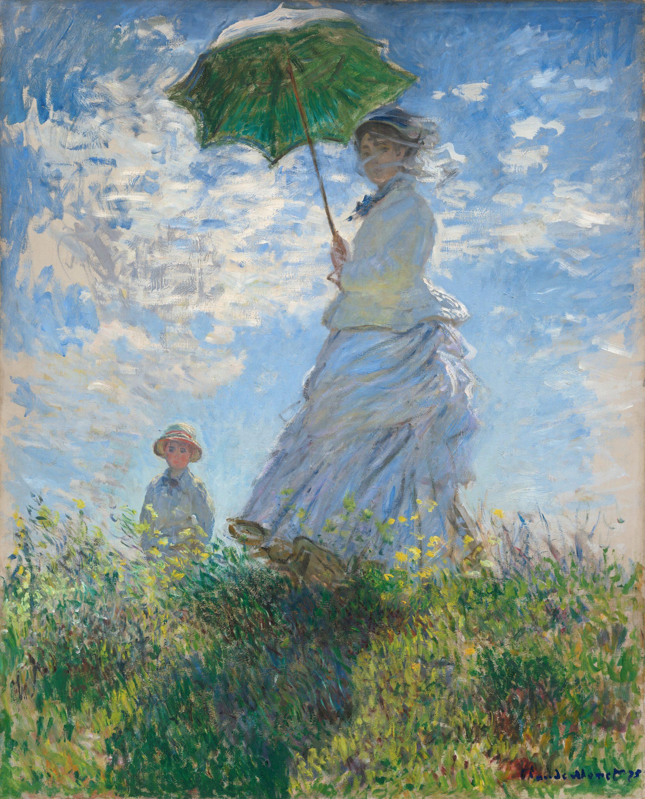 Woman with a Parasol, Claude Monet